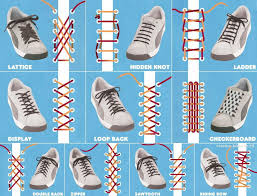 diy creative shoes lace up