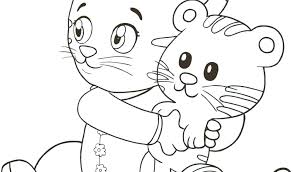 Amazing Daniel Tiger Coloring Pages And Tiger Coloring Pages