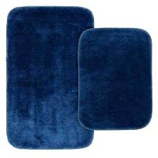 bathroom rugs set traditional 2 piece washable bathroom rug set in navy macys bath rugs sets