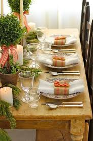 Great A Holiday With Home Spun Charm 20 Elegant Christmas Table Decorating Ideas  For 2013