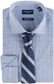 Patterned Dress Shirts Classy Nick Dunn Modern Fit Patterned Easy Care Spread Collar Dress Shirt