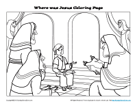 Small Picture Free Printable Bible Story Coloring Page for Kids Where Was