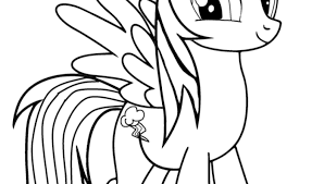 Small Picture My Little Pony Coloring Pages Rainbow Dash Printable of Rainbow