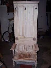 old door furniture ideas. Hall Tree Bench Made From An Old Door Furniture Ideas