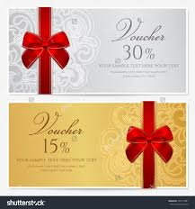 voucher gift certificate coupon template border stock vector voucher gift certificate coupon template border frame bow ribbons