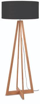 Vloerlamp Bamboe Everest Linnen Zwart Goodmojo Homedeconl