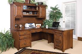 solid wood desk impressive design ideas office outstanding corner desks wit hutch solid construction um walnut finish l shaped 7 drawer file storage 2