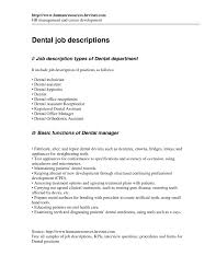 dental receptionist job description resume unforgettable sample gallery of general dentist job description