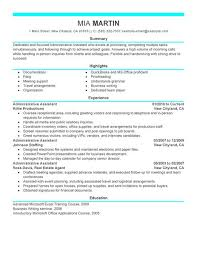 Resume Administrative Assistant Resume Samples Free Best