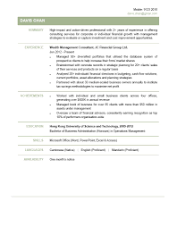 Wealth Management Consultant Cv Ctgoodjobs Powered By Career Times