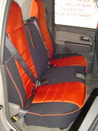 chevrolet colorado half piping seat covers rear seats