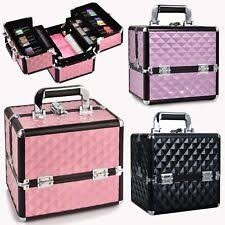 aluminium vanity case cosmetic make up nail tech jewellery storage box new