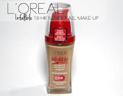 l oreal infallible advanced never fail makeup foundation review