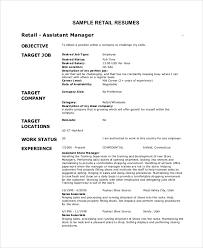 Objective For Retail Resume Good Resume Objectives For Retail musiccityspiritsandcocktail 4