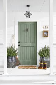 pretty white front door. Pastel Green Paneled Front Door Pretty White Front Door