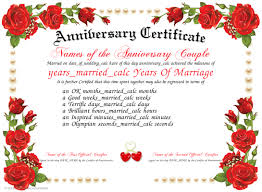 Anniversary Certificate Template Inspiration Pin By Sirisha Komarraju On DIY Pinterest Certificate Templates