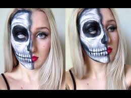 half skull pin up makeup tutorial tutorial you