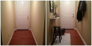 small and narrow entryway update