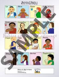 Asl Sign Chart Baby Sign Language Survival Signs Chart Teach Baby To Sign