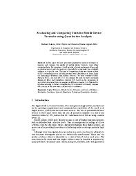 Pdf Evaluating And Comparing Tools For Mobile Device