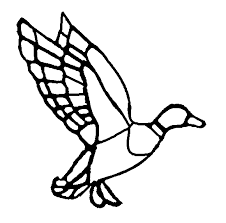 duck in flight suncatcher