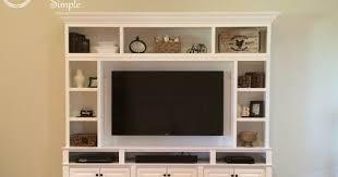 diy tv built in wall unit