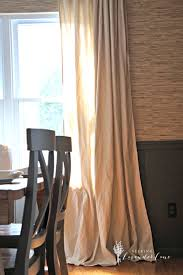 Diy Drop Cloth Curtains Cheap Home Decor Easiest Diy Drop Cloth Window Treatments