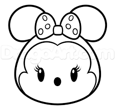 Small Picture Coloring Pages Draw Minnie Mouse exprimartdesigncom