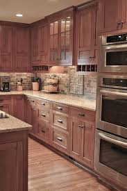 Glamorous Kitchen Backsplash Maple Cabinets