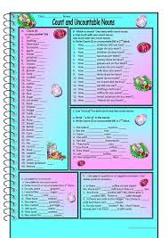 Count and Noncount nouns | Wrird | Pinterest | Nouns worksheet ...