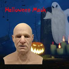 AIKA Old <b>Woman</b> Mask Halloween <b>Creepy</b> Wrinkle <b>Face</b> Mask Latex ...