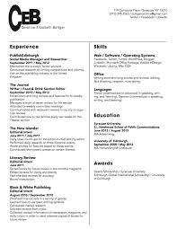 Resume Templates Headings Pertaining To Fascinating Examples For