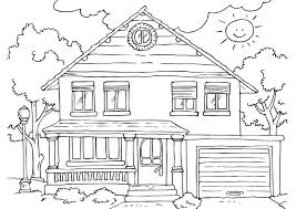 Multi storey house coloring pages. Free Printable House Coloring Pages For Kids