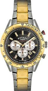 rotary two tone chronography bracelet watch mens silver gold rotary two tone chronography bracelet watch mens silver gold from argos