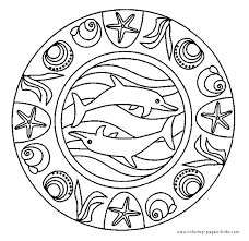 Dolphin Mandala Color Page Dolphins Animal Coloring Pages Color