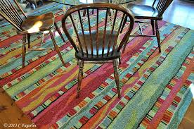a fiesta rug the little round table