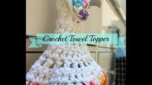 Crochet Towel Topper Pattern Beauteous Easy Crochet Towel Topper YouTube