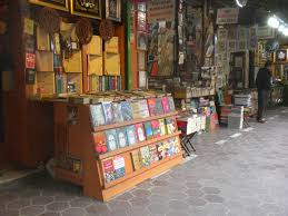 a small section of the book bazaar istanbul