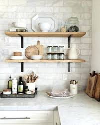 kitchen display cabinets for small shelf wall open shelving in the farmhouse style but surprising