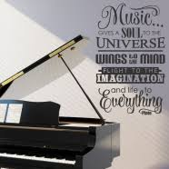Music Wall Decals | <b>Music Quote Wall Decal</b> | Simple Stencils