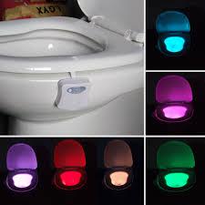 Glowbowl Toilet Night Light 20pcs 8 Color Motion Sensor Led Light Bowl Human Body Induction Toilet Light Night Glow Bowl Illumibowl Potty Backlight Lamp