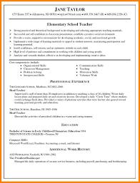 10 Example Of Resume For Teacher Inta Cf