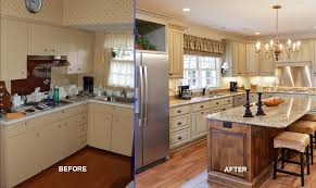 image of kitchen remodel before and after photo