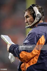 Football Coach Play Chart Head Coach Mike Shanahan Of The Denver Broncos Looks At His