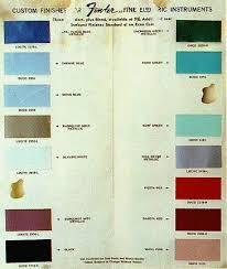 Lucite Color Chart Vintage Guitars Info Fender Custom Color Finishes On
