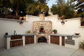 outdoor kitchen mediterranean patio santa barbara by poirier associates architects