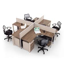 Modern wood office furniture Brown Modernwoodofficefurnitureworkstationwithpartitionscreen Home Depot Pin By Riddhi Jain On Workstations Idea Office Workstations Desk