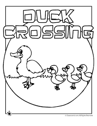 Make Way For Ducklings Coloring Pages Woo Jr Kids Activities
