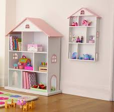 Dolls House Bookcase and Wall Shelf Modern Kids Toys Ideas