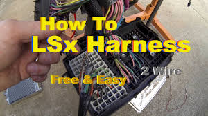 lsx swap harness how to simple free diy standalone on the test stand you